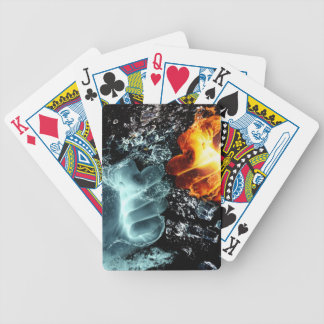 Fire and Water Bicycle Playing Cards