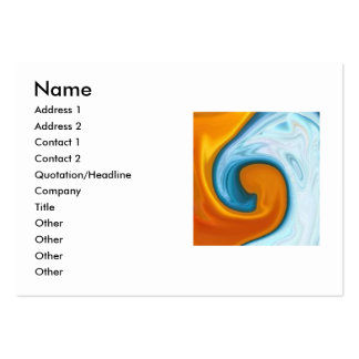 fire and water business card