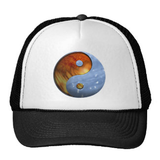 Fire and Water Yin and Yang Symbol Cap