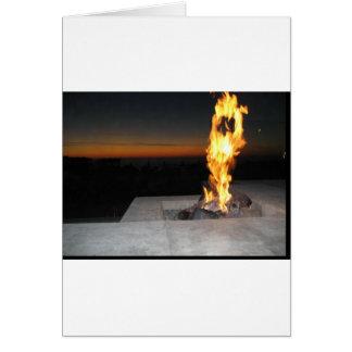 Fire at a restauant near the beach in San Diego Greeting Card