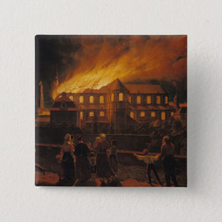Fire at Cambrai Cathedral, 9th September 1859 15 Cm Square Badge