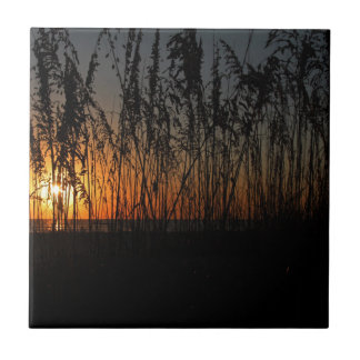 Fire at Dawn Small Square Tile