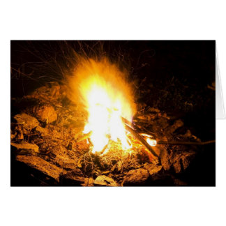 Fire At Night Card