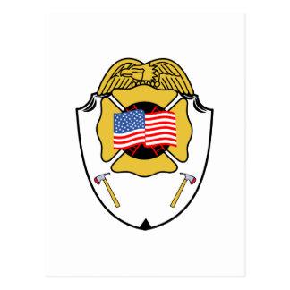 Fire Badge Postcard