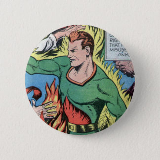 Fire-based Hero from Sure-Fire Comics! 6 Cm Round Badge