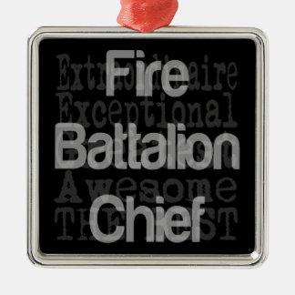 Fire Battalion Chief Extraordinaire Metal Ornament