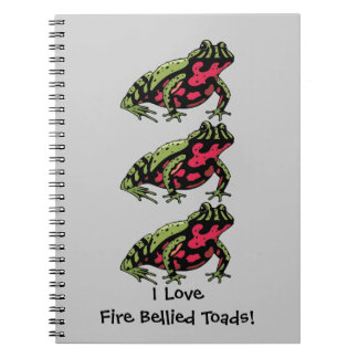 Fire Bellied Toad Love (customizable) Notebook