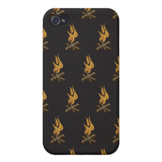 fire black iPhone 4/4S cases