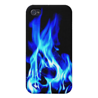 Fire Blue iPhone 4 Covers