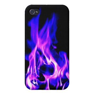 Fire Blue & Pink iPhone 4 Case