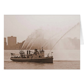 Fire Boat Harvey Greeting Card