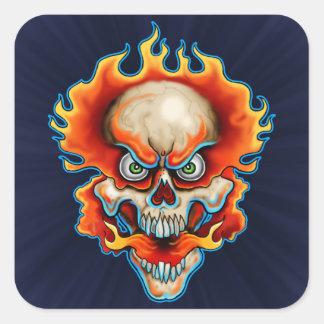 Fire Breather Design Square Sticker