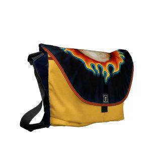 Fire Breather Skull design Messenger Bag