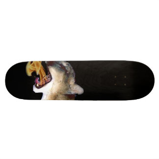"""""""Fire breathing"""" cougar skateboard"""