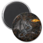 Fire-Breathing Dragon 6 Cm Round Magnet