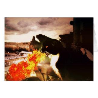 Fire Breathing Dragon Cat card