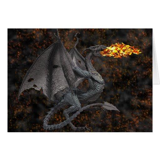 Fire-Breathing Dragon Greeting Card