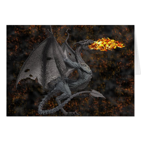 Fire-Breathing Dragon Greeting Card