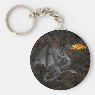 Fire-Breathing Dragon Key Ring