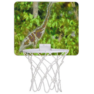 Fire breathing dragon mini basketball hoop
