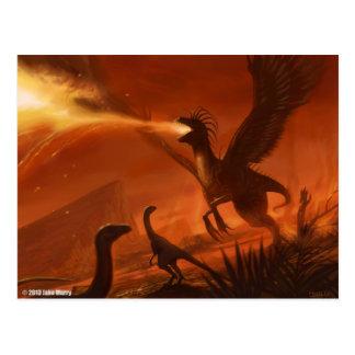 Fire-Breathing Prehistoric Dinosaur by Jake Murray Postcard