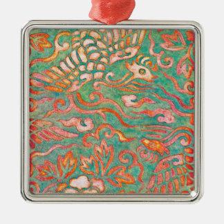 Fire-Breathing Southwest Desert Dragons Metal Ornament