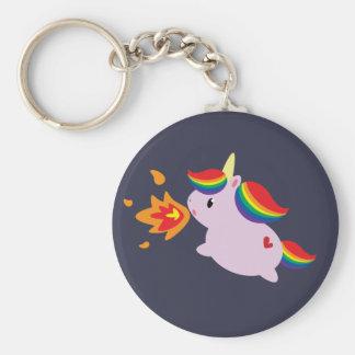 Fire-Breathing Unicorn Key Ring