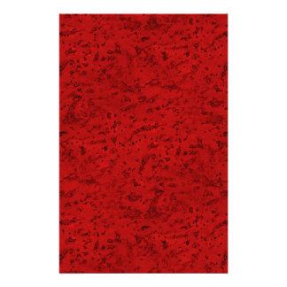 Fire Brick Red Cork Look Wood Grain 14 Cm X 21.5 Cm Flyer