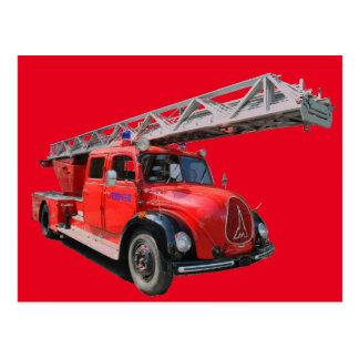 Fire brigade card postcard