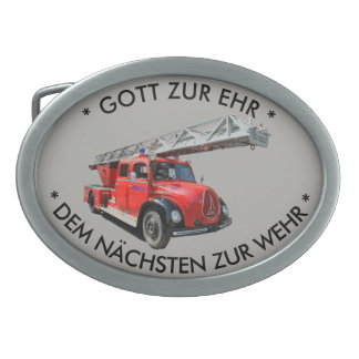 Fire-brigade - old timers oval belt buckles