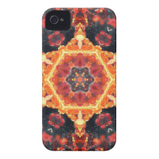 Fire Bubbles Mandala iPhone 4 Case