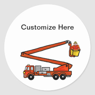 Fire Bucket Truck Stickers or Name Tags