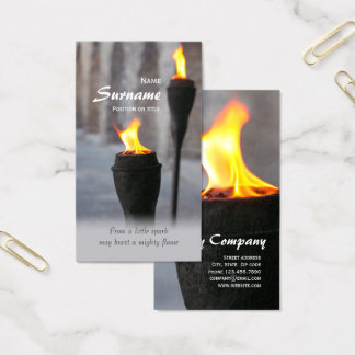 Fire Burning torches From a little spark CC0947 Business Card