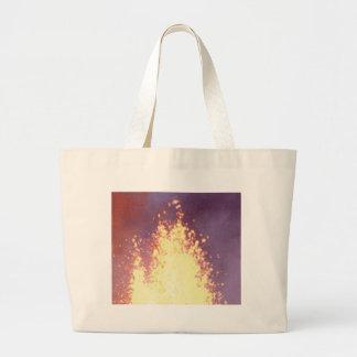 fire burst large tote bag