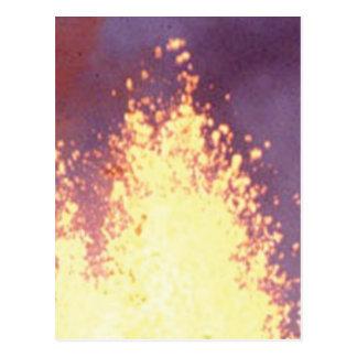 fire burst postcard