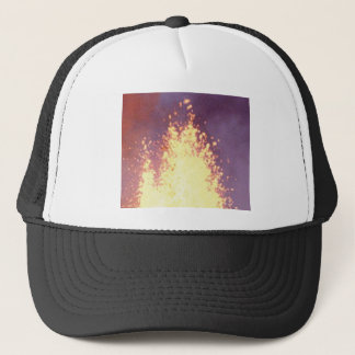 fire burst trucker hat