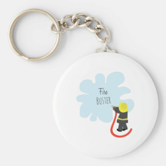 Fire Buster Basic Round Button Keychain