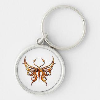 Fire butterfly keychain. key ring