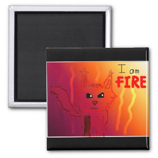Fire Cat Magnet