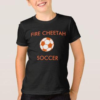 Fire Cheetah Soccer T-Shirt