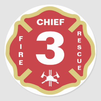 Fire Chief Badge Sticker