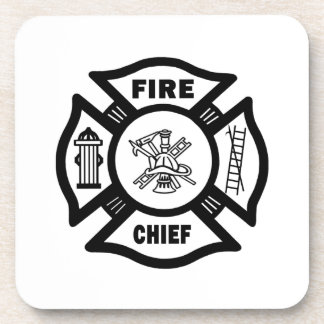 Fire Chief Drink Coaster