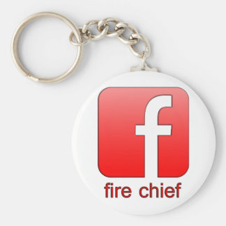 Fire Chief Facebook Logo Unique Gift Template Key Chain