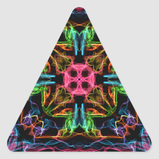 Fire Colors Triangle Sticker
