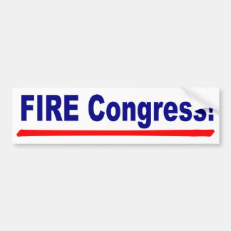 Fire Congress Bumper Sticker