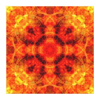 Fire Cross Mandala Canvas Print