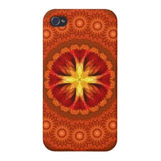 Fire Cross Mandala iPhone 4 Case