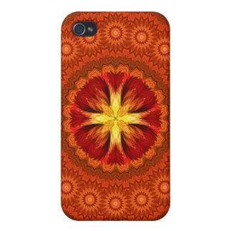 Fire Cross Mandala iPhone 4 Cover