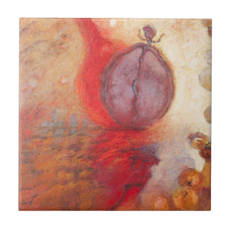 Fire Dance abstract oil painting Ceramic Tile