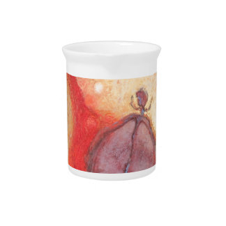 Fire Dance abstract oil painting Pitcher